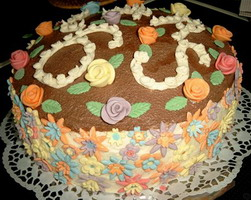 Торт темный корж светлый корж