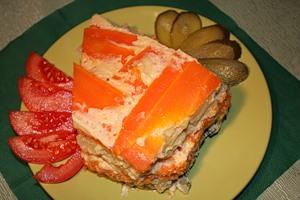 рыбный торт рецепт