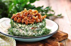 Рецепты салатов с грибами