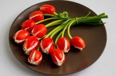 Салат «Букет тюльпанов» к 8 Марта