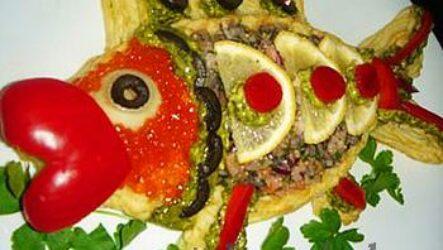 Золотая рыбка из пюре (Новогодние рецепты)