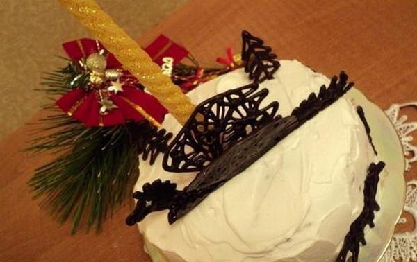 Новогодний торт Черный дракон