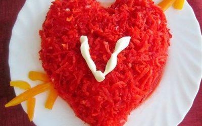 Салат ко Дню влюблённых