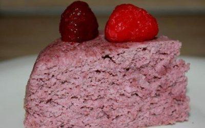 Мокрый малиновый пирог (в пароварке)