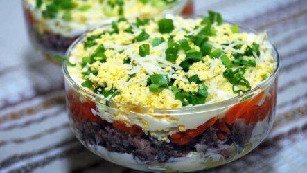 Слоеные салаты: 9 лучших рецептов