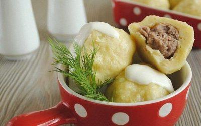 Картофельные клёцки с мясом: 3 рецепта