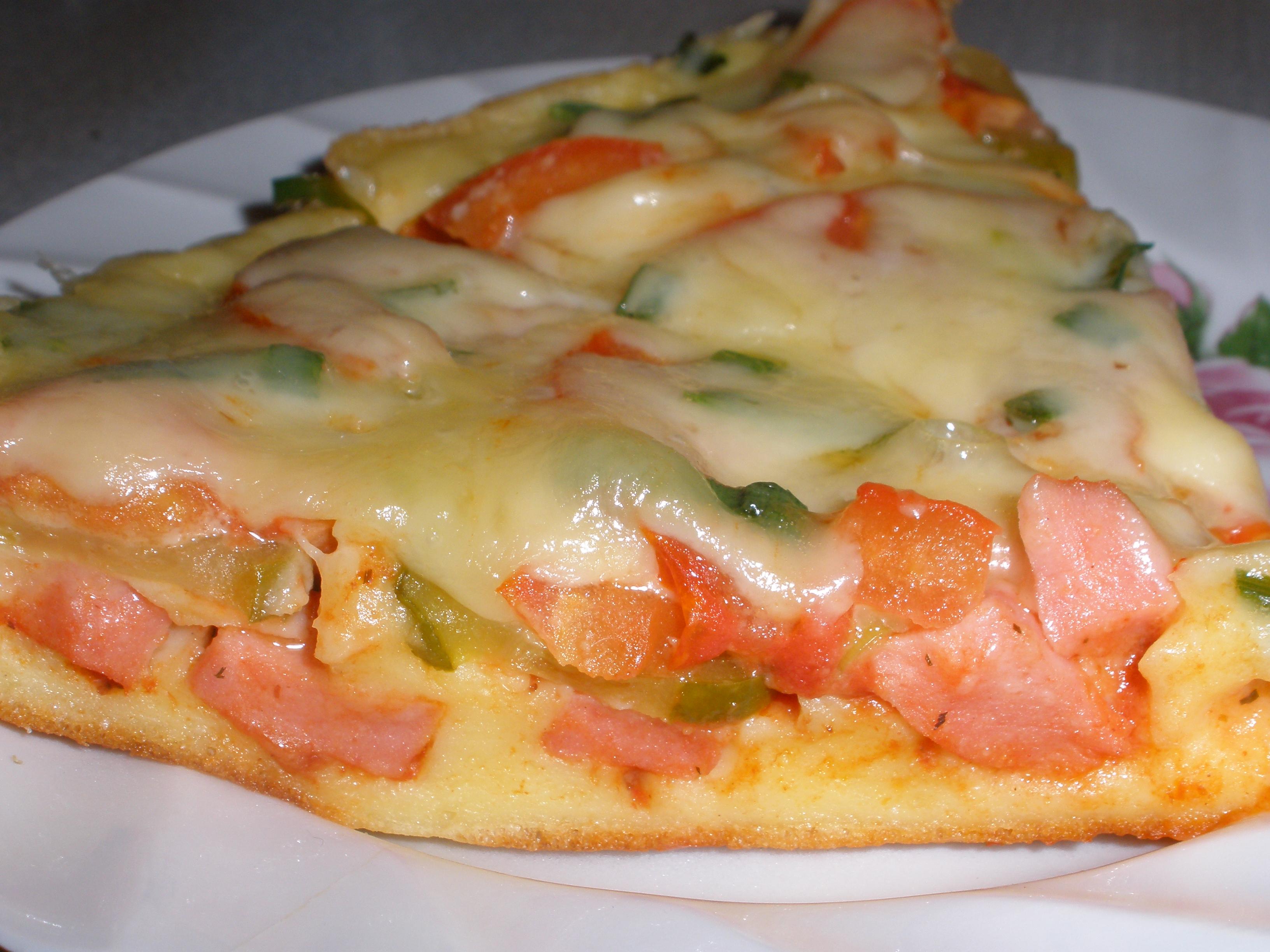 Пицца Минутка на сковороде