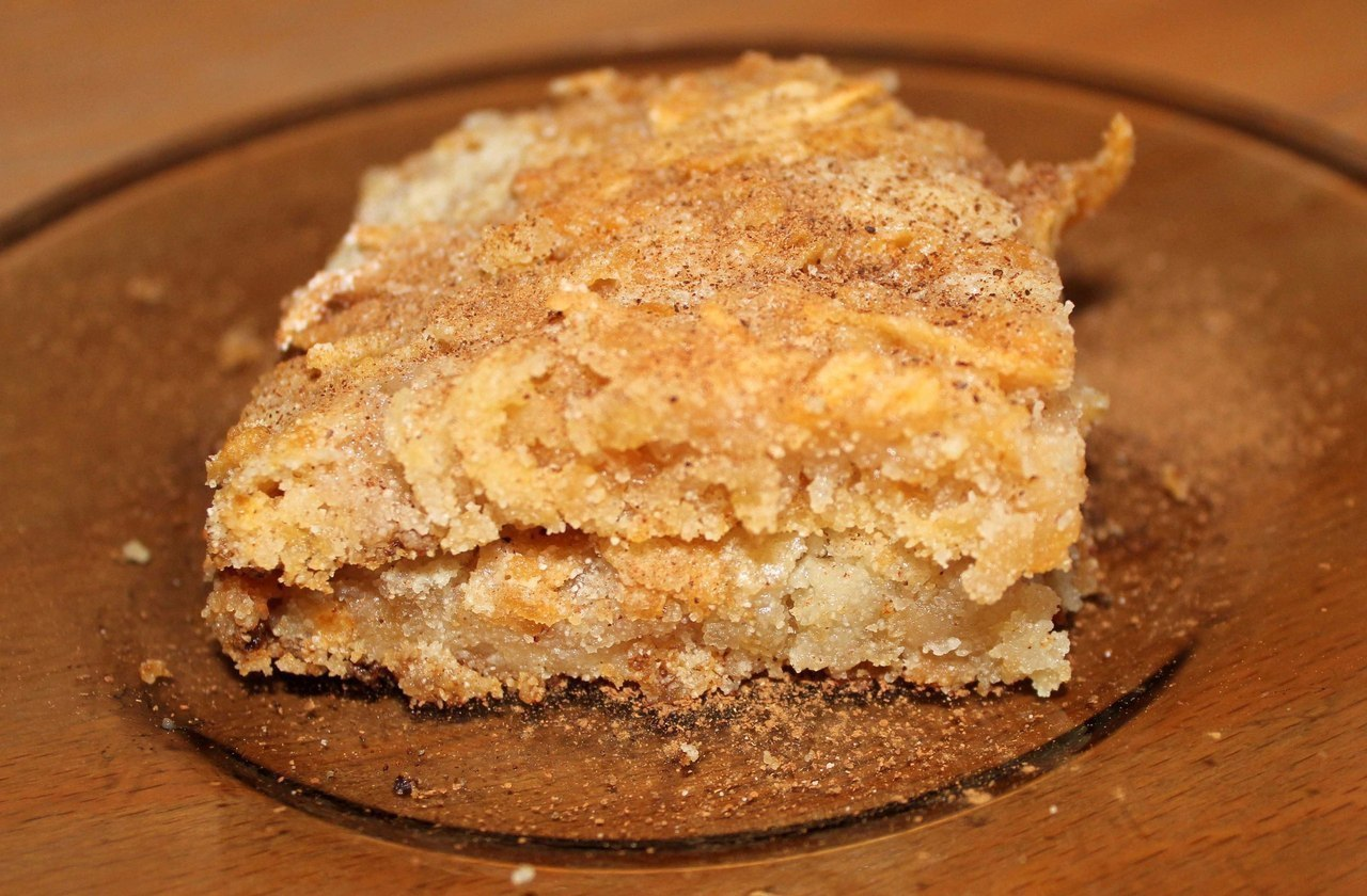 Самый простой яблочный пирог без яиц