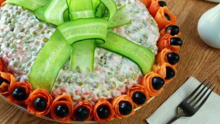 Как украсить салат? Много фото!