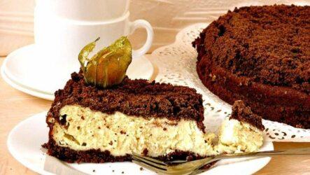 Шоколадно-творожный пирог: 3 лучших рецепта