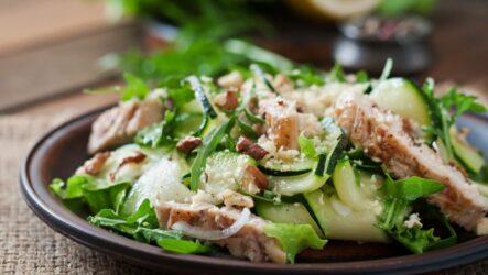 Салат курица, грибы, огурец: 6 рецептов