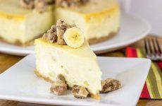 Банановый чизкейк с творогом: 8 рецептов