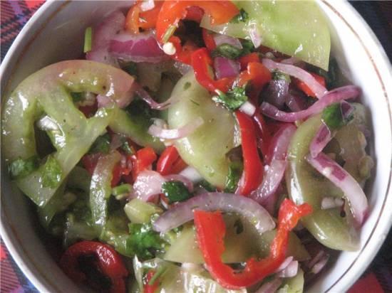 салат из зеленых помидор сырой