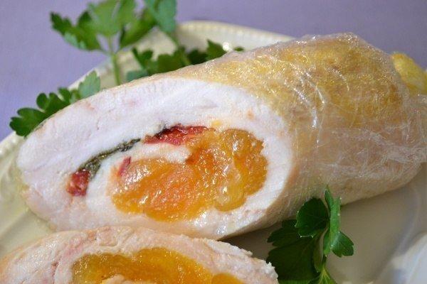 рецепт курицы с курагой и орехами