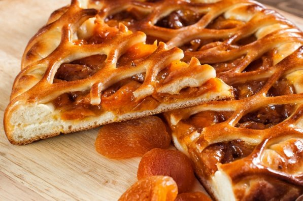 Открытые пироги с курагой рецепты