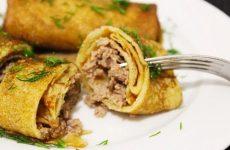 Начинки для блинов мясные и из фарша: 8 рецептов