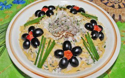 Салат «Леший»: 4 лучших пошаговых рецепта с фото