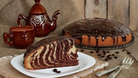 Пирог-торт «Зебра»: 8 простых рецептов