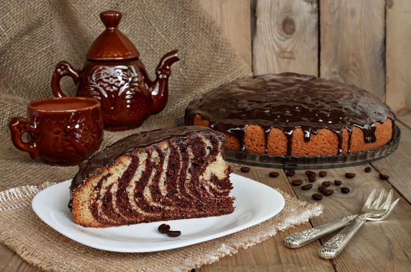 пирог-торт зебра