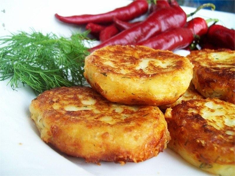 Картофельные котлеты из пюре с фаршем рецепт в