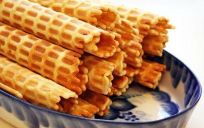 Вафельные трубочки в вафельнице: 9 рецептов