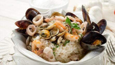 Ризотто с морепродуктами: 8 рецептов