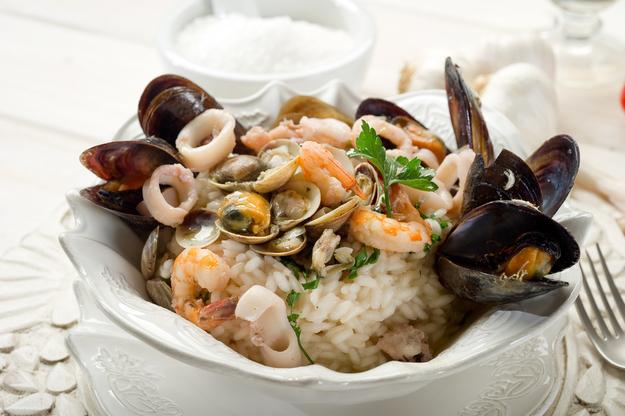 Рецепты ризотто из морепродуктов