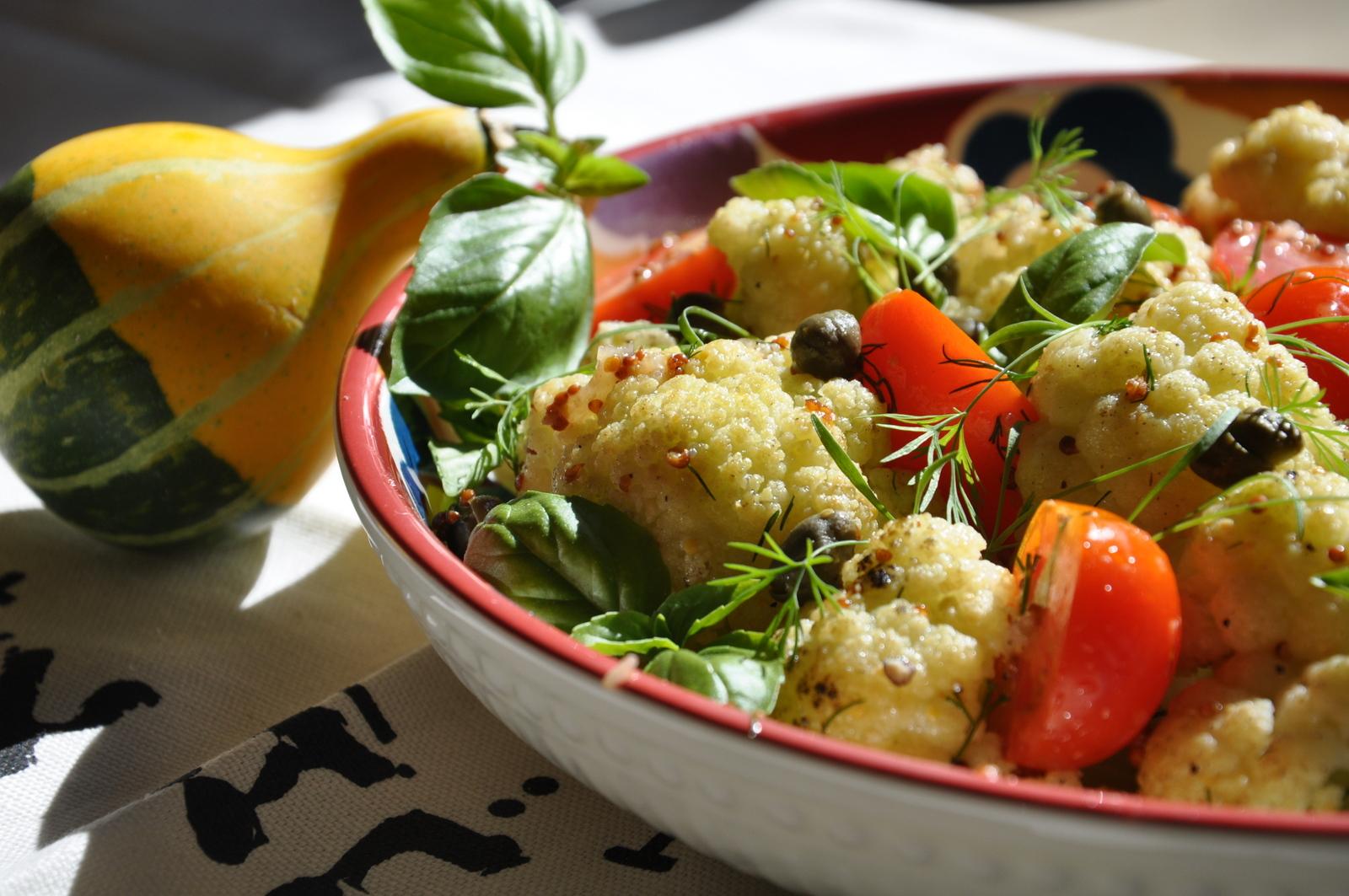 салаты из цветной капусты постные рецепты