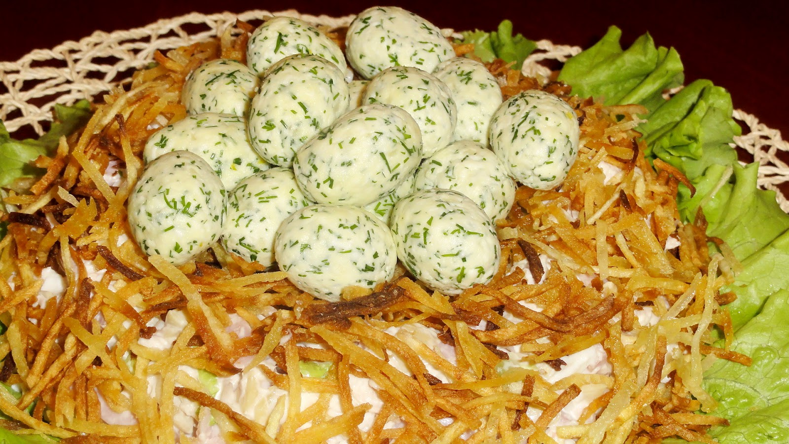 Рецепт самого вкусного салата гнездо