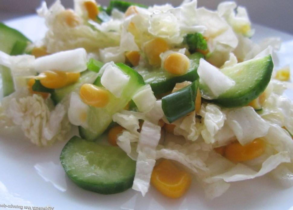 Пекинский салат с огурцом