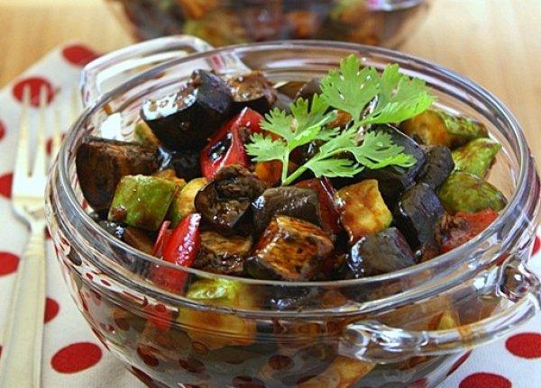 зимние салаты из баклажанов и перца