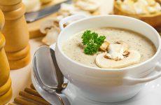 Крем-суп из шампиньонов со сливками: 8 рецептов