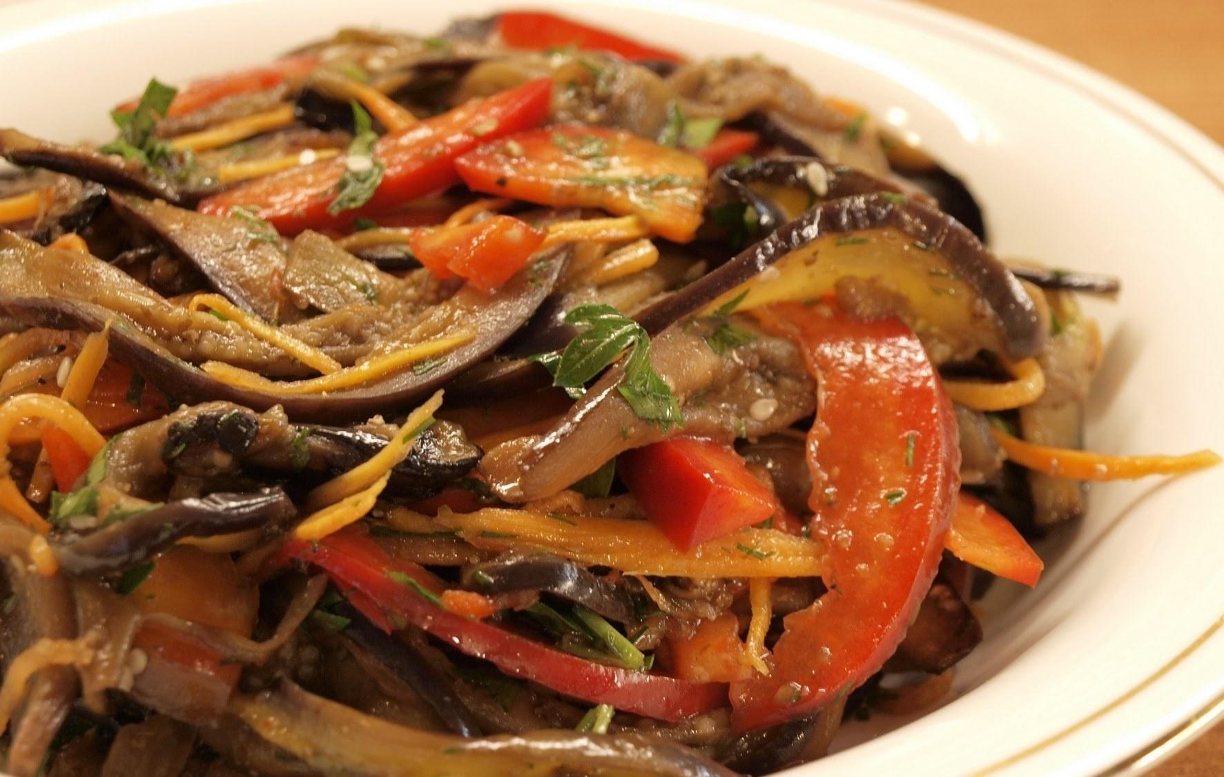 Салат из баклажанов и лука