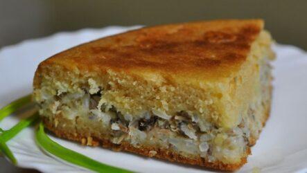 Пирог с сайрой и рисом: 7 простых рецептов