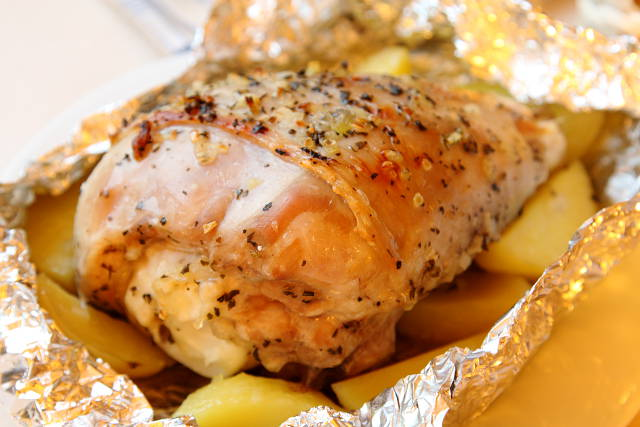 Курицы рецепт пошагово в духовке в фольге