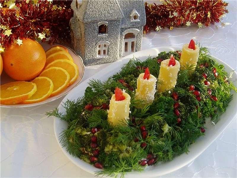 Новогодний салат на 2018 год