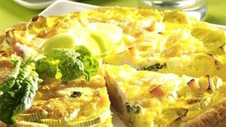 Пирог с луком-пореем: 8 сытных рецептов