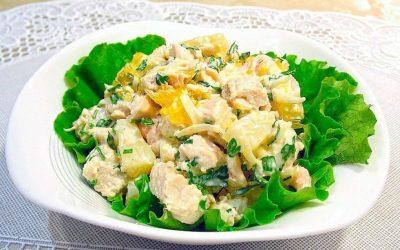 Салат с копченой курицей и ананасами: 8 рецептов к празднику