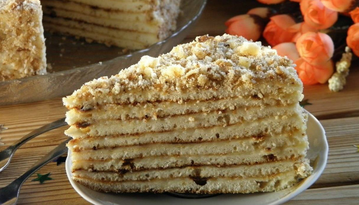 Домашний торт на сковороде