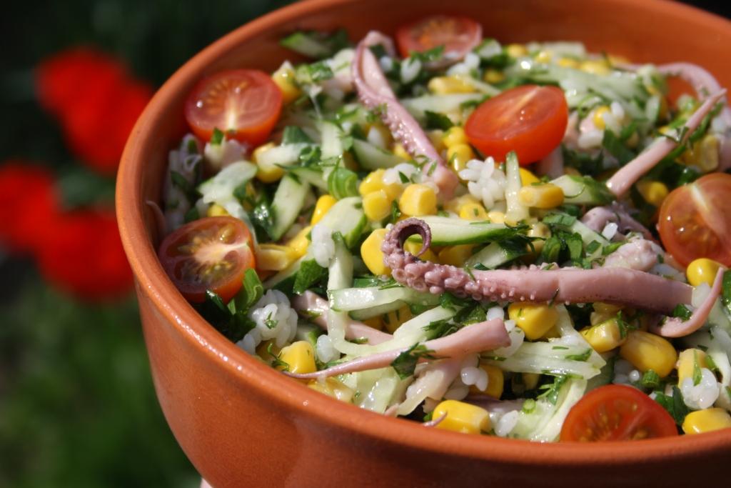 Вкусные постные салаты