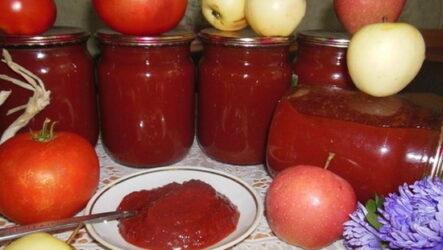 Кетчуп с яблоками и помидорами: 8 рецептов на зиму
