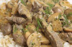 Бефстроганов из свинины: 7 рецептов на каждый день