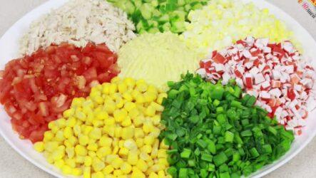 Салат Цветик-семицветик: 7 волшебных рецептов