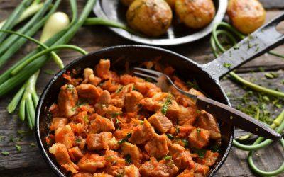 Гуляш на сковороде: 8 мясных рецептов
