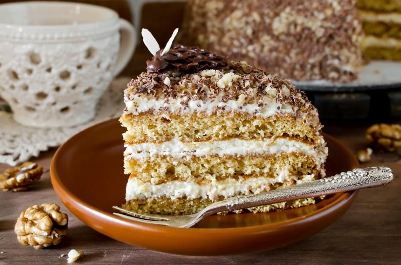 Торт сметанный домашний