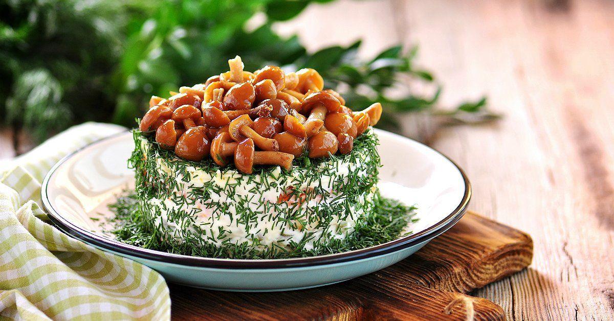 Мужской салат с грибами