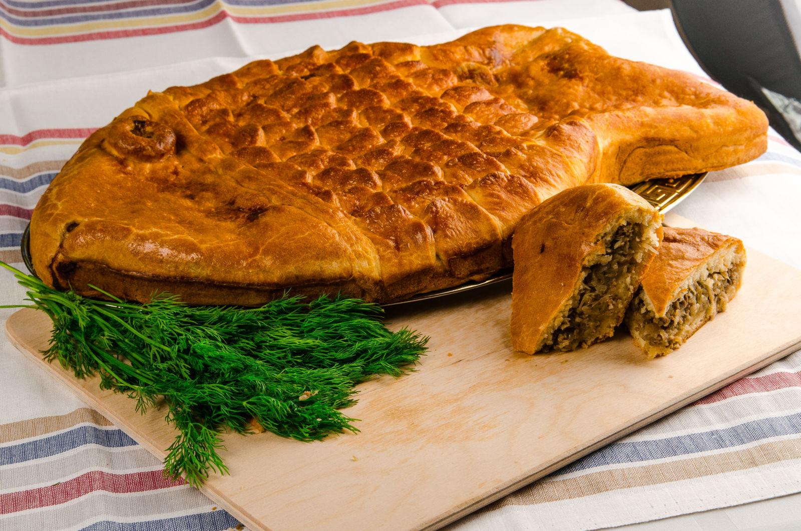 Рыбный пирог в духовке