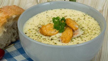 Сырный суп с плавленными сырками: 7 несложных рецептов