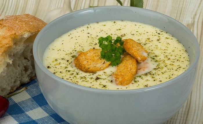 Сырный суп из сырков