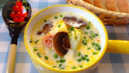 Сырный суп с грибами: 6 сытных рецептов